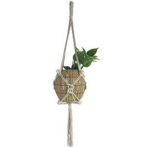 Cotton Rope Plant Hanger Style 1902 Natural 35in new