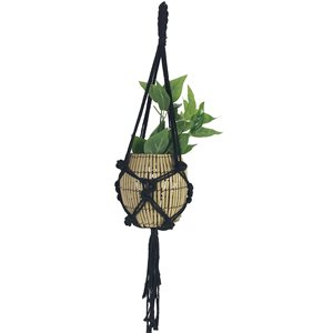 Cotton Rope Plant Hanger Style 1902 Black 35in new