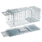 Cat, Raccoon & Groundhog Collapsible Cage Trap With Galvanized Wire 31in x 11in x 13in