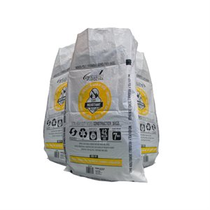 20pc HD Construction Woven Demo Bag 29.25in x48.5in (7mil) White