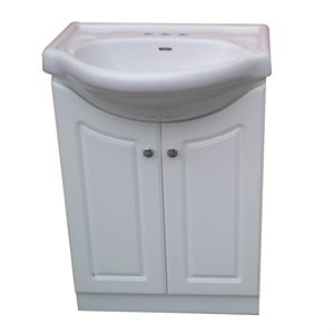 Vanity 22in HB101BW White (Assembled)