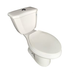 Dual Flush Elongated Toilet WaterSense 4 / 6L - White