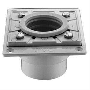Square Shower Drain Base 4 3 / 8in x 5 9 / 16in x 3in (PVC)