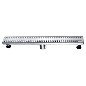 Linear Shower Drain Sq. Grid 2in 36in x 3in x 3 1 / 8in