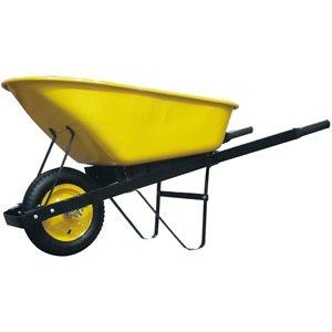Wheelbarrow 6 cu.ft. Pneumatic Tire Wooden Handle