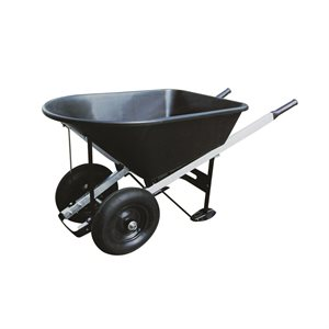 Wheelbarrow 8 cu.ft. 2-Pneumatic Tires Metal Handle
