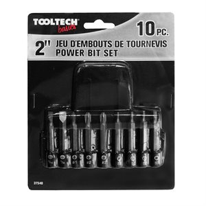 10PC 2in POWER BITS & HOLDER