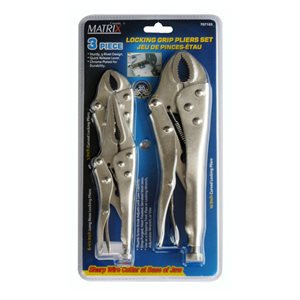 """3PC Locking Pliers Set 5in"