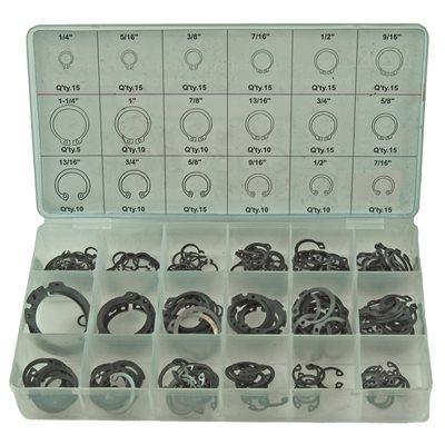 225 pc Internal Snap Ring Assortment