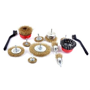 13PC Wire Wheel & Cup Brushes Kit