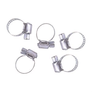 5pc Hose Clamps 5 / 16in -¼in