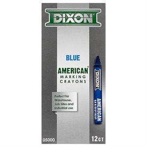 12pk American Marking Crayon - Blue