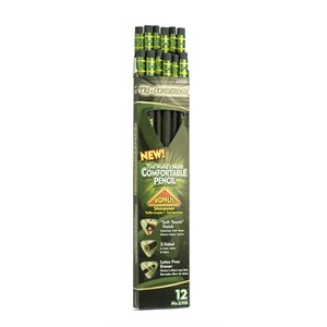 12pk Tri-Conderoga Triangular Writing Pencils HB w / Sharpener