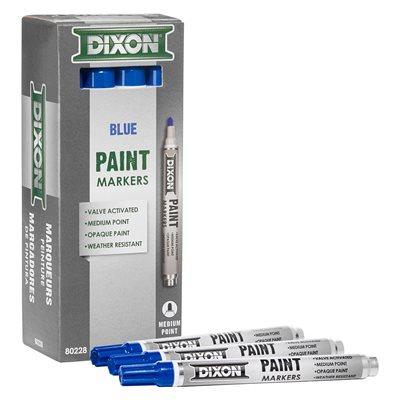 12pk Paint Marker - Valve Action - Medium Tip - Blue