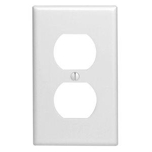 1 Gang White Duplex Plate