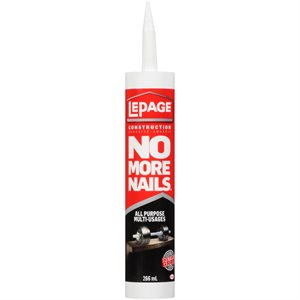 Adhesive All Purpose No More Nails 266ml Lepage 1654384