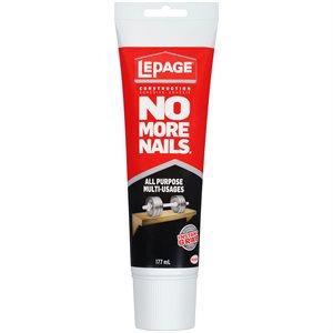 Adhesive All Purpose No More Nails 177ml Tube Lepage 1675061