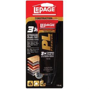 Adhesive Pl Premium Squeeze Tube 118ml Lepage 1584230