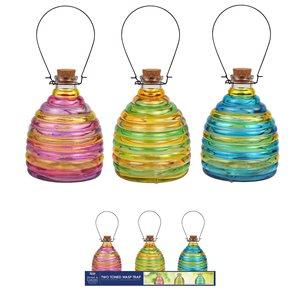 Glass Wasp Trap Prepack Assorted Colours Tray 9Pc