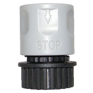 Hose Connector Female End Quick Connect w / Water Stop 1 / 2in