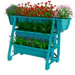 Raised Bed Planter 3-Tier Turquoise