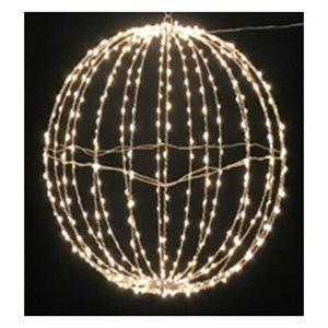 GLO Plug-in Hanging Metal Sphere with 440 Warm White Twinkling Bulbs 17.75in diameter