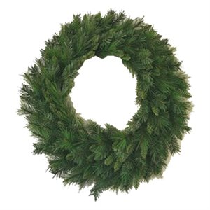 Mixed Pine Wreath 36in