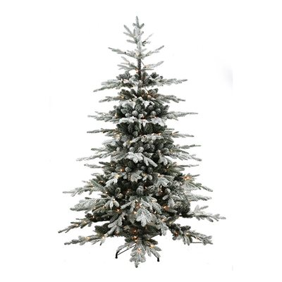 Realistic Noble Fir Pre-Lit Artificial Christmas Tree 7ft