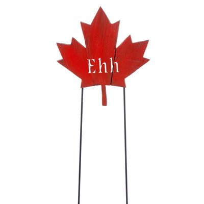 Wooden Red Maple Leaf Stake - EHH 11.8in x 12.4in