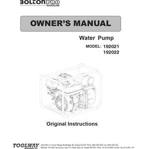 Water Pump Manual
